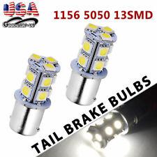 2x White 6000K 1156 BA15S 5050 13smd Turn Signal Backup Reverse LED Light Bulbs