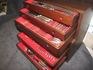 Wilkens-Martin Besteck.-Modell507 90-er Silberauflage 191 Teile plus 2 Kästen