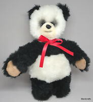 Steiff Movi Soft Panda Teddy Bear Dralon Mohair Plush 30cm 12in 1973 -76 no ID