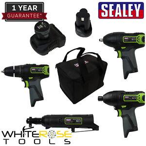 Sealey SV108 Series 4 x 10.8V Cordless Combo Kit - 2 Batteries