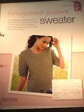 Honeycomb Patterned Sweater Knitting Pattern from Bergere de France Magazine
