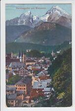 AK Berchtesgaden mit Watzmann, Feldpost 1917