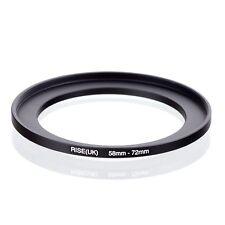 RISE(UK) 58-72  58-72mm  Matel Step Up Ring Filter Camera Adapter blak 58-72