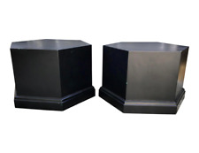 Pair of Asian Geometric 6 Sided Pedestals