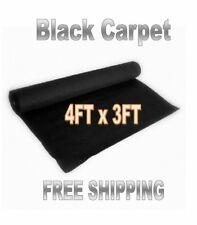 Audiopipe Black 3' x 4' Quality Speaker Box Cabinet Carpet Trunk Liner Cover
