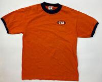 Vintage Virginia Cavaliers UVA Go Hoos Go T Shirt Delta Pro Weight - Size M