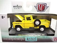 M2 AUTO-TRUCKS- 1958 CHEVROLET APACHE STEP SIDE R38- 1:64 YELLOW
