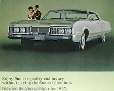 1967 Oldsmobile advertisement page, Oldsmobile Ninety-Eight, Olds 98