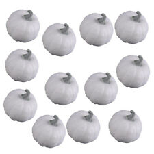 12PCS DIY Artificial White Pumpkin Foam Pumpkins Halloween Party Garden Decor