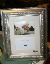 """Cbs Designs Silver Carved Resin Picture Frame Holds 2 X (5""""X3.5"""") Photos"""