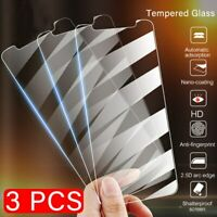 3Pcs Tempered Glass For iPhone 12 11 Pro Max 7 8 6 Plus X XS XR Screen Protector