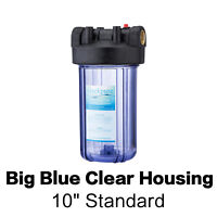 Geekpure 4.5 x 10-inch Big Blue Water Filter Clear Housing 1-inch Outlet/Inlet