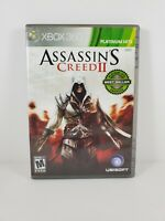 Assassin's Creed II (Microsoft Xbox 360, 2009) Platinum Hits Complete Tested CIB