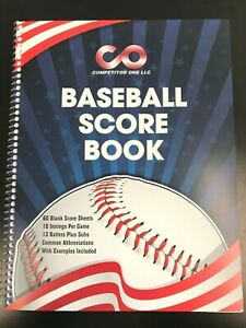 Baseball Score book, 60 games, 13 batters, 10 innings, side bound ~FREE SHIPPING