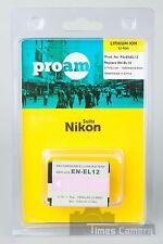 ProAm PA-ENEL12 EN-EL12 Battery for Nikon CoolPix S610 S610c S70 S1000pj Cameras