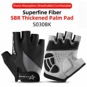 ROCKBROS Cycling Half Finger Bike Gloves Shockproof Breathable Bike Short Gloves