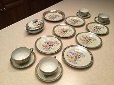 Vintage Hand Painted Lusterware Tea Set Japan 17 Pieces