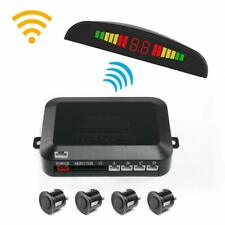 DC12V Universal Wireless Car Parking Rear Reverse 4 Sensors Buzzer Radar System