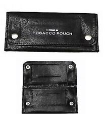 Soft PU Leather Tobacco Pouch Lined Paper Slot Rolling pocket Rizla Smoking