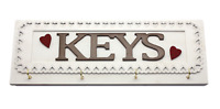 Key Hooks Rack Holder Hearts and Lace Design Large Home Decor Plaque  F1456B