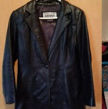 Amazing Wilson's Leather Coat Ladies Medium GREAT CONDITION Black Soft Leather