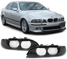 Streuscheiben Scheinwerferglas Blinker schwarz für Xenon Paar für BMW 5er E39