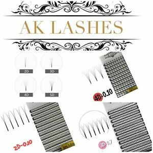 Pre made Russian Lashes Fans Volume 3D XD mink Eyelash Extensions C D 12 row box
