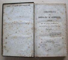 Chronique des dominicains de Guebwiller éd Brückert Guebwiller 1844