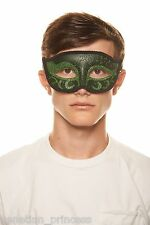 Men's Handsome Green Venetian Masquerade Mask Mardi Gras Wedding Prom Brand NEW
