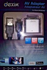 Dexim DWA033 Aluminio Adaptador De Hdmi Av Para Iphone/Ipod/Ipad