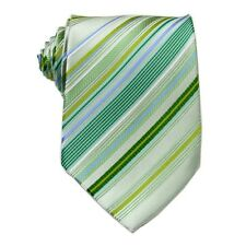 Light Green Striped 100% Silk Jacquard Classic Woven Man's Neck Tie Necktie G258