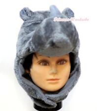 HALLOWEEN RHINOCEROS COW FUN WARM COSTUME HAT MASK H16