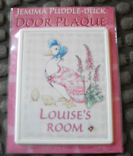 BRAND NEW BEATRIX POTTER JEMIMA PUDDLE-DUCK DOOR PLAQUE
