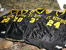 jerseys lot of 4 black yellow powers USA MADE throwback ft richie military base