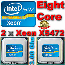 2 x Intel Xeon X5472 3.00 GHz AppleMac Pro 3,1 matched Pair Quad CORE Upgrade