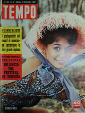 TEMPO N° 37/ 15.SET.1958 GEORGIA MOLL - LEE REMICK - MARIA CRISTINA GAJONI -