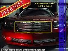 GTG 2004 - 2008 Chrysler Crossfire 1PC Gloss Black Replacement Billet Grille