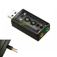 USB External 7.1 Channel 3D Virtual Audio Sound Card Adapter PC