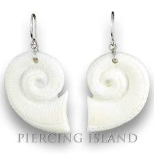 Maori Style 925er Silber Ohrringe Knochen Muschel Design Schmuck ER230