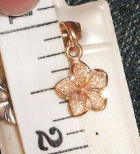 Plumeria Flower Hawaiian Hawaii Rose 14K solid gold