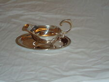 More details for silver plated sauce boat & tray - gravy -mustard-mint nice gift