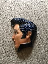 Clay Art About Face 1160  1987 Elvis Profile of Face Look Closely at Photo's