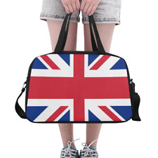 Fashion Custom Overnight Bag Union Jack UK Flag England Weekender Travel Bag DIY