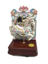 San Francisco Music Box Company Carousel Horse Roses w Mirror Limited Edition 9�
