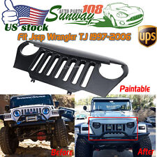 US Front Mesh Hot Bird Grill Grille for Jeep Wrangler TJ 1997-06 Sahara Rubicon