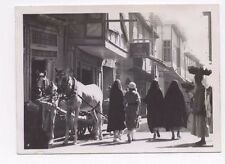 OLD PHOTOGRAPH A TYPICAL STREET SCENE BAGHDAD IRAQ VINTAGE 1940S (198)