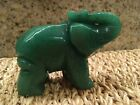 Jade Elephant Statue 2 Inches High 3 Inches Long