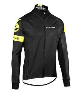 Cervelo Men's Roubaix Jacket Large L Endura Cycling Windproof Black/High-Vis NEW