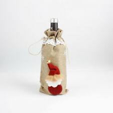 Christmas Decorations Red Santa Tree Wine Bottle Cover Bag Dinner Party Gift