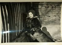 1960s Russian Girl Сhild and Dog Friends Vintage photo Soviet girl